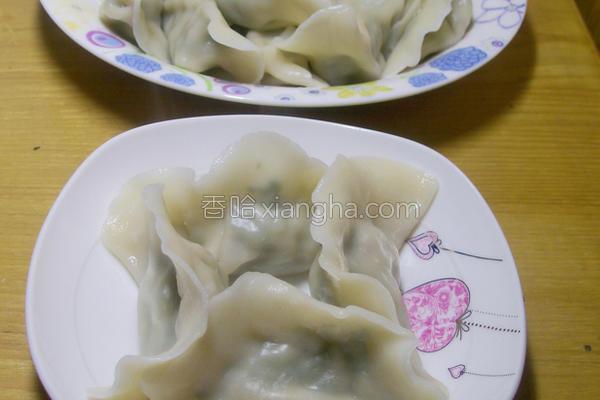 荠菜饺子的做法