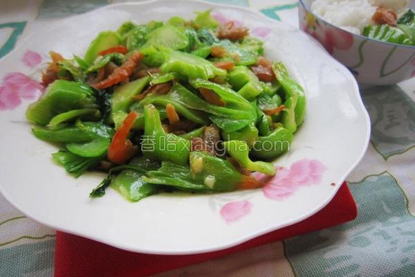 海米盖菜的做法