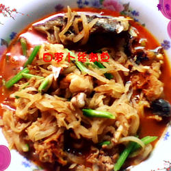 白萝卜丝煮鱼的做法[图]