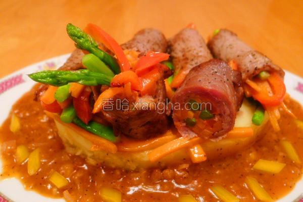 牛肉杂菜卷的做法