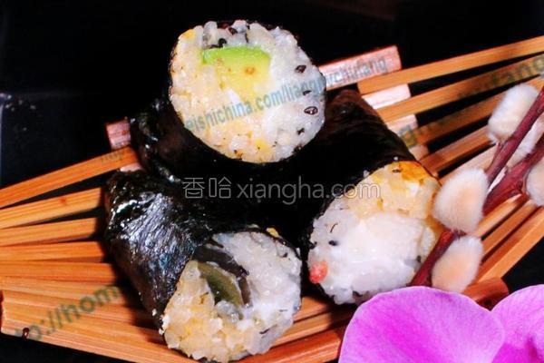 双色绝味海苔饭团的做法