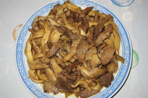 鲜蘑炒肉片的做法