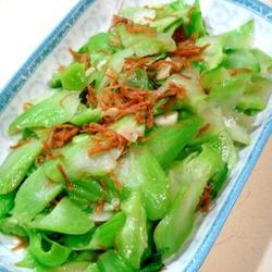 干贝松炒盖菜梗的做法[图]