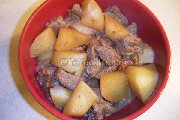 香辣牛腱萝卜煲的做法