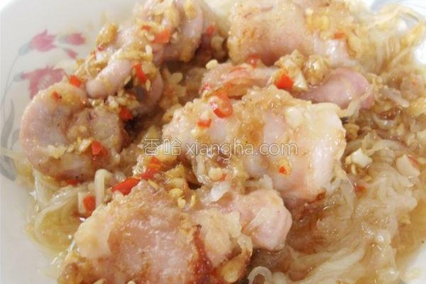米椒酿竹肠的做法
