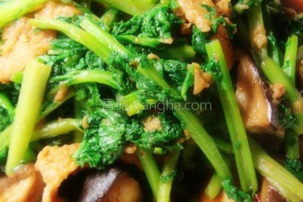 香菇苔菜炒肉的做法