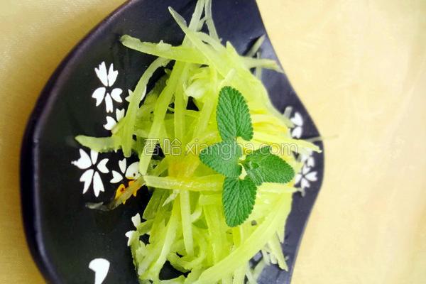 清拌莴笋的做法