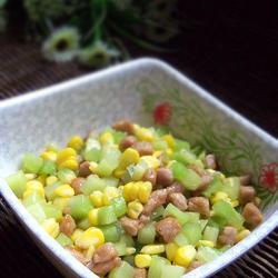萵筍玉米炒肉丁的做法[圖]