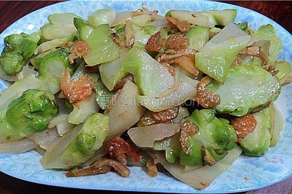 虾米炒芥菜头的做法