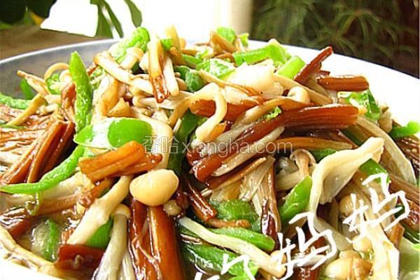 清炒金针菇