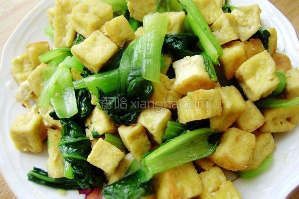 豆腐烧油菜的做法