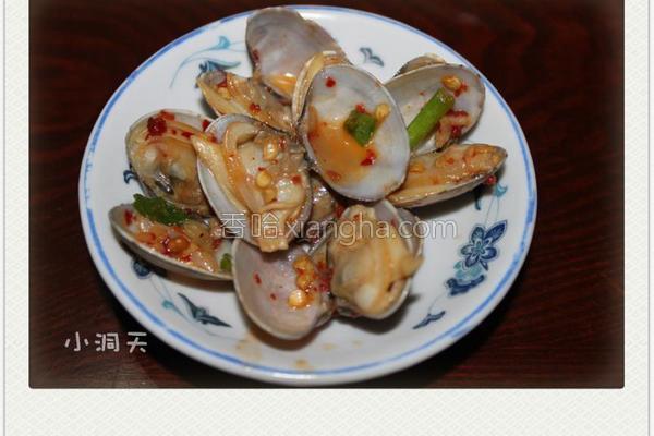 蒜香蚝油花蛤的做法