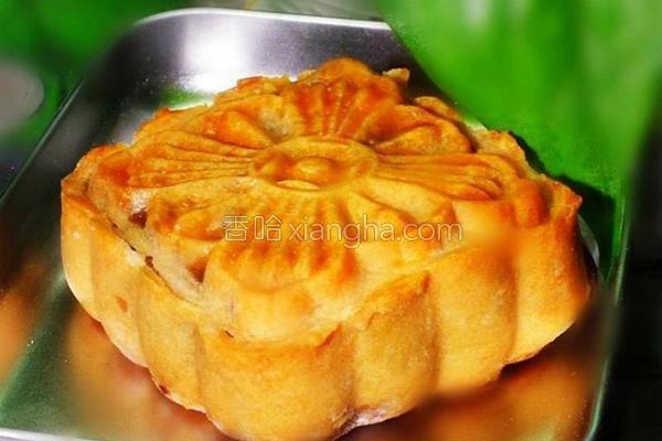 广式可可杏仁月饼的做法