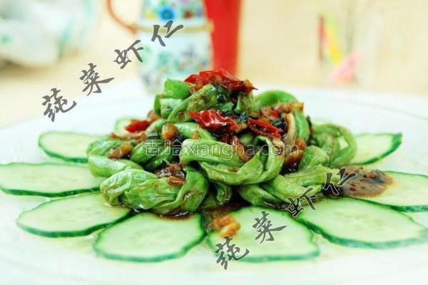 鱼香豇豆圈的做法