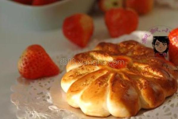 椰蓉花型面包的做法