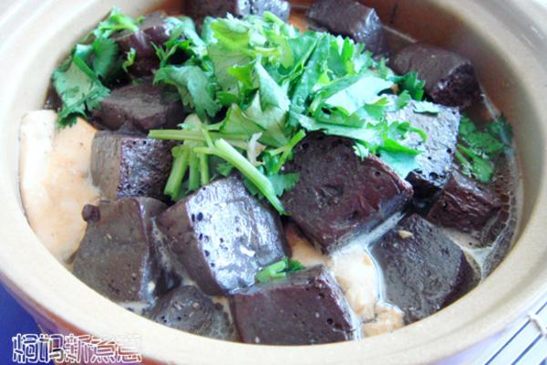 羊血豆腐煲