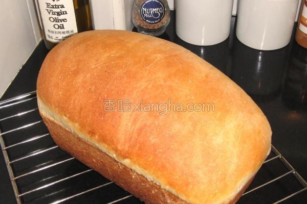 白脱牛奶乡村面包的做法