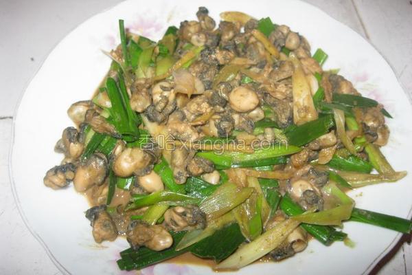 蒜香牡蛎的做法