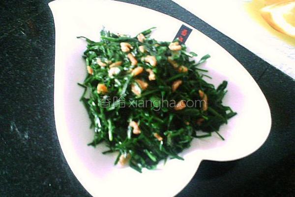 海米炒韭菜的做法