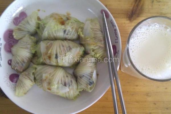 白菜包糥米饭团