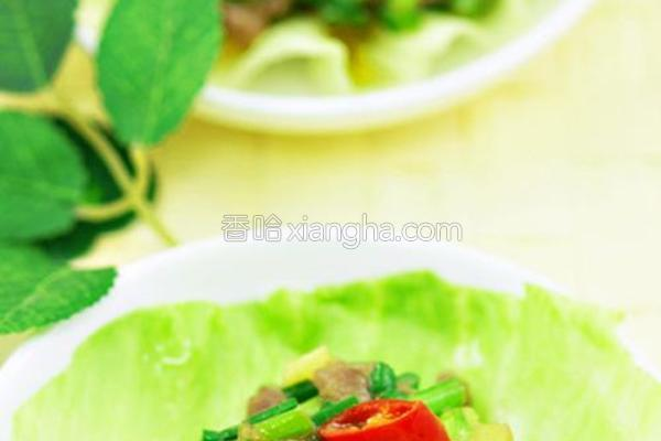 菠萝芯牛粒生菜包的做法