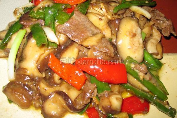 蘑菇炒牛肉的做法