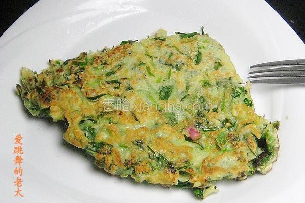 菠菜蛋饼的做法