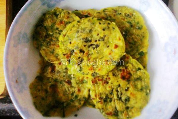 红薯青菜煎饼