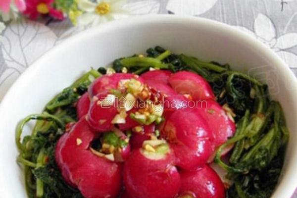 凉拌樱桃萝卜的做法