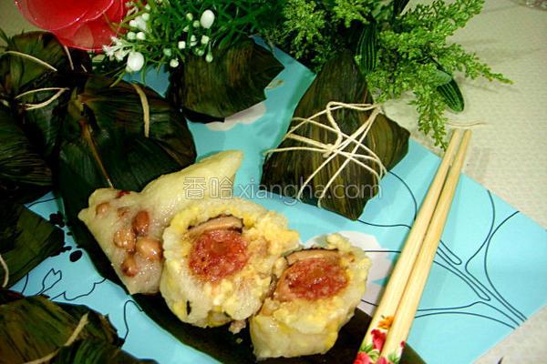 香糯腊肠海米粽的做法