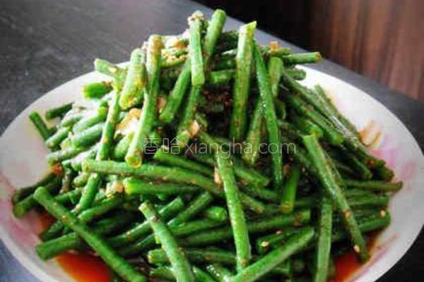 红油豇豆的做法