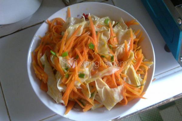 胡萝卜炒豆腐皮