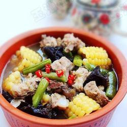 玉米豆角排骨煲的做法[图]