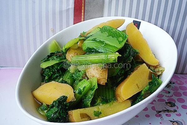 小白菜炖土豆的做法