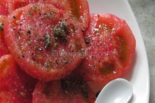 桂花糖拌西红柿的做法