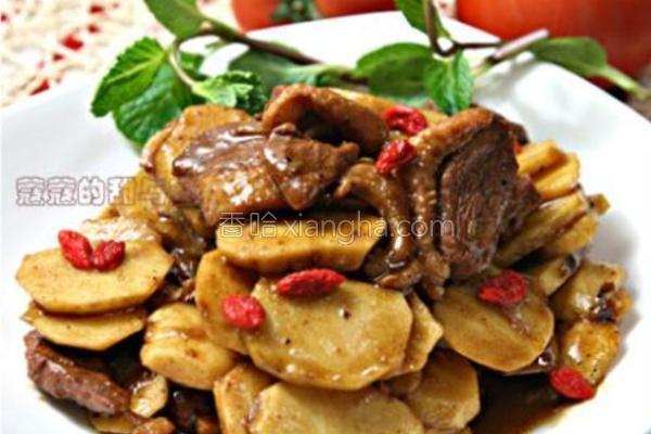 鸭胸肉炒茨菇的做法