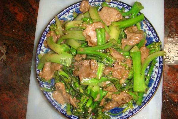 牛肉炒芥兰的做法