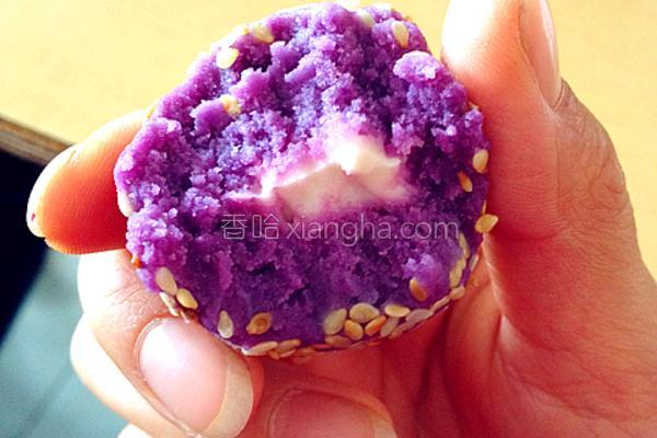 紫薯奶酪球的做法