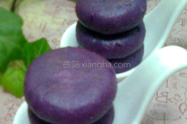 紫薯燕麦小饼的做法
