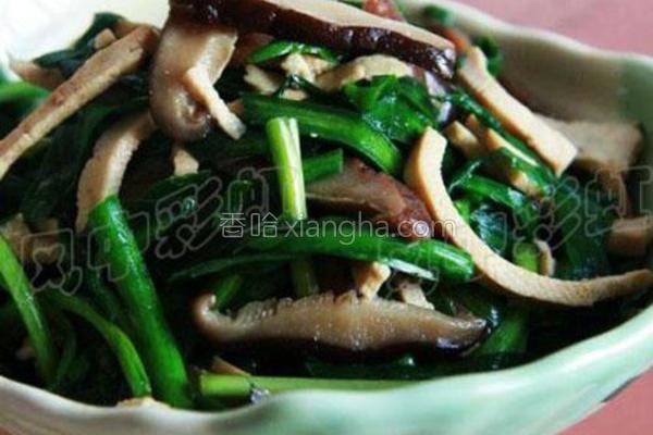 韭菜香菇炒豆干的做法