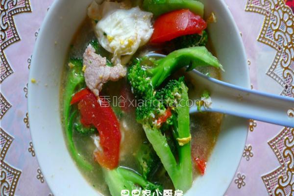 西兰花瘦肉汤的做法