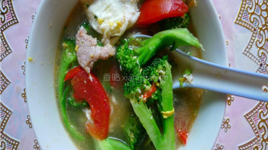 西兰花瘦肉汤