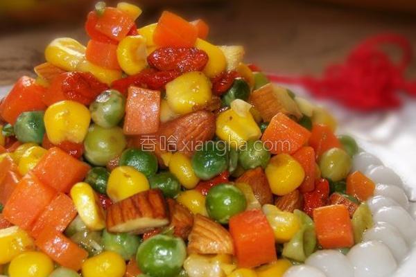 营养全面的拌杂蔬的做法