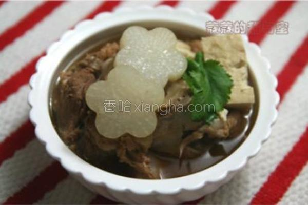 豆腐萝卜大骨汤的做法