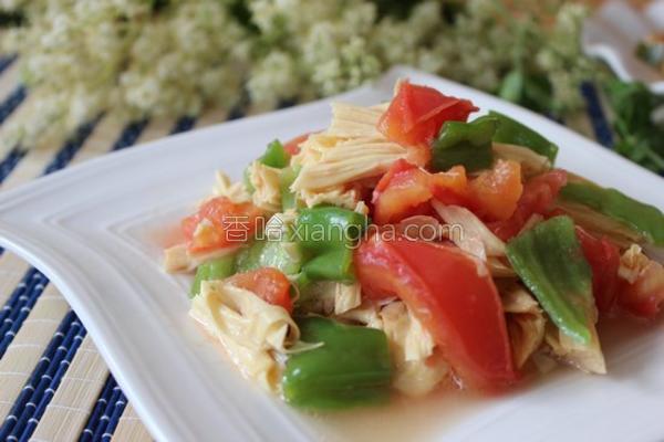 番茄炒腐竹的做法