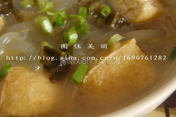 酸菜豆泡红薯粉
