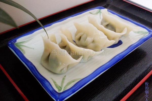 韭菜肉馅水饺的做法