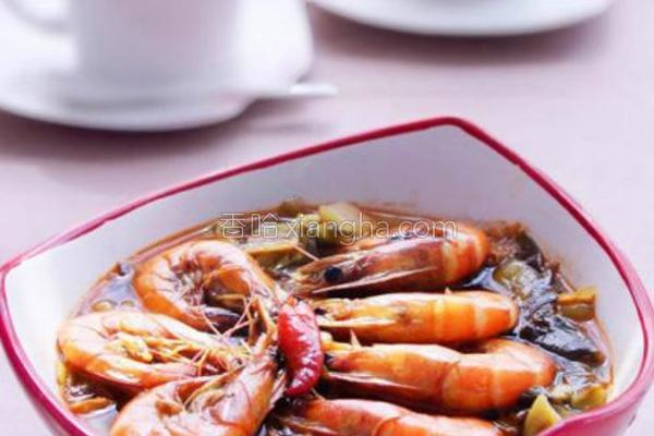 酸菜虾的做法