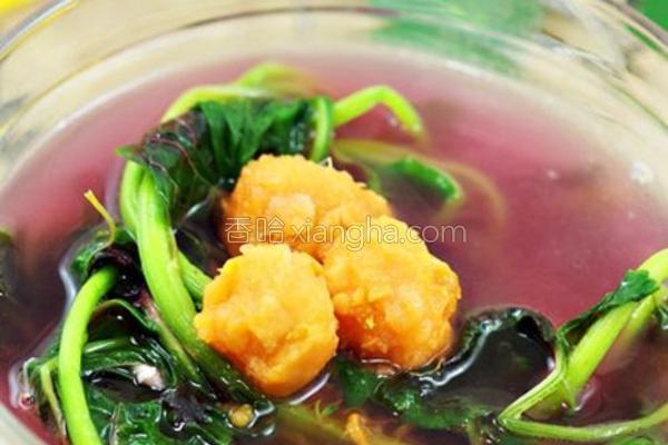 黄薯汗菜汤的做法