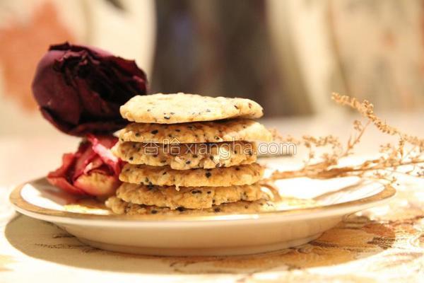 芝麻燕麦酥脆饼的做法